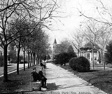 Children Sitting In Historic Travis Park